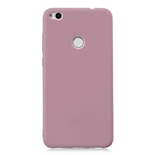 cuzz Custodia Huawei P8 Lite (2017)+{Film di Vetro temperato}Silicone TPU Cover Morbida Protettiva Custodia Ultra Sottile Leggero Cover-Loto Rosa