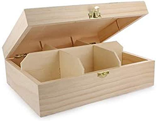 La Fourmi 205 x 160 x 75 mm, Teebeutel-Box, 6-teilig, Beige, standart