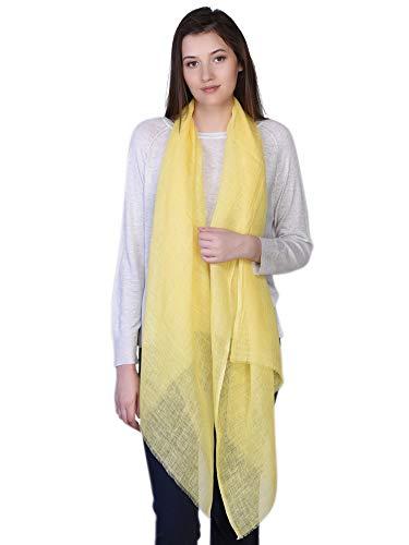 Pañuelo amarillo 100% de Lino estilo pashmina