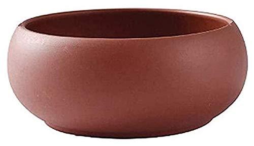 DWhui Maceta Decorativa Interior/al Aire Libre Planta terraacotta Pots Gran jardín Cactus Escritorio de cerámica de cerámica plantador suculento jardinería Ornamentos Regalos (Size : L23CM)