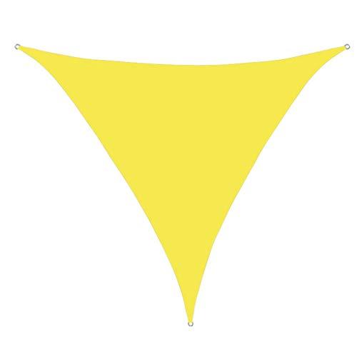 GUOIOOI Triangle Sun Shade Sail Canopy Mesh Fabric Permeable al Agua y Resistente a los Rayos UV para Actividades al Aire Libre en el Patio, jardín, Patio Trasero, 3 años de garantía