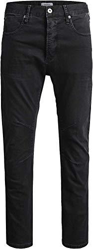 JACK & JONES Herren Jeans JWHLUKE JJECHO JOS Black Anti Fit Jeans Schwarz (30W / 32L)