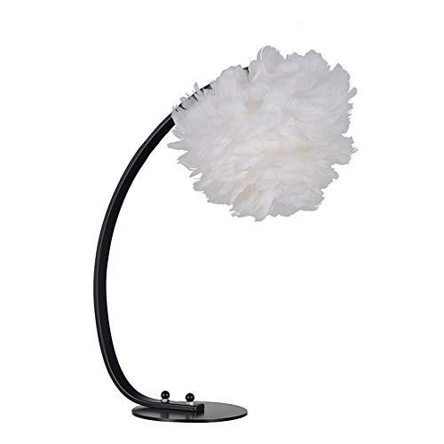 ZHANGXJ Creativo Lámpara de Noche Moderna Lámpara Minimalista Lámpara de Mesa Plumas,para Dormitorio,Estudio Salon Habitación Infantil Comedor del