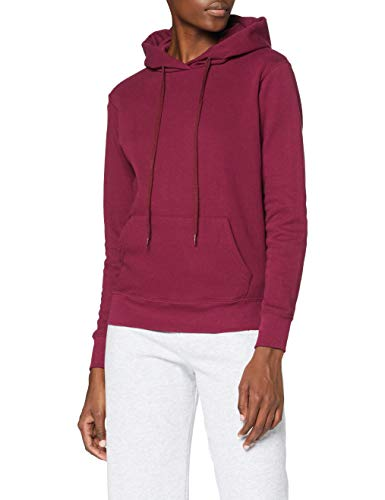 Fruit of the Loom - Sweat-shirt à capuche - Manches Longues - Femme - Rouge (Bordeaux) - FR 44 (Taille fabricant: XL)
