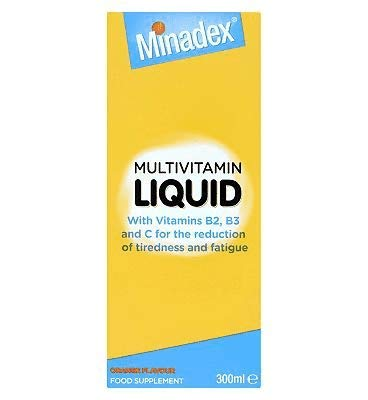Seven Seas Minadex Multivitamin Liquid with Orange Flavour, 300 ml