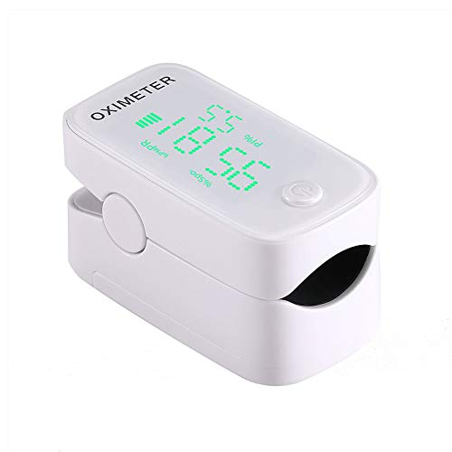 Oximeter,Vingertop Oxygen Monitor Sp02 Pulsoximeter Bloed Zuurstof Saturatie Niveau En Hartslag Monitor Met LED-Scherm, Automatisch Uitschakelen