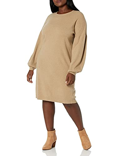 The Drop - Vestido sudadera Aiko para mujer, con mangas abullonadas