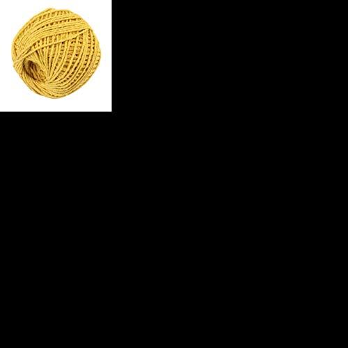 LLAAIT - Rollo de cuerda de yute natural, 100 m, cuerda de cáñamo, cuerda de embalaje, cuerdas para eventos, fiestas, bodas, hogar, bricolaje, manualidades, A301017