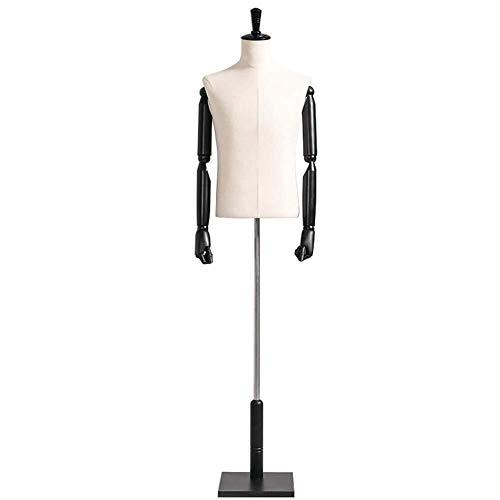 Maniquíes de costura Maniquí Puntales Hombre Ropa Body Shop Window Juego de la Ropa Estante de exhibición de Medio Cuerpo Maniquí del Soporte de los Hombres maniquí sastres Adjustable