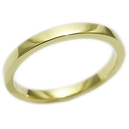 18金 リング レディース メンズ 2mm幅 1.5mm厚 K18 指輪 シンプル 国産 受注生産 オーダー YG PG WG (イエローゴールド, 17)