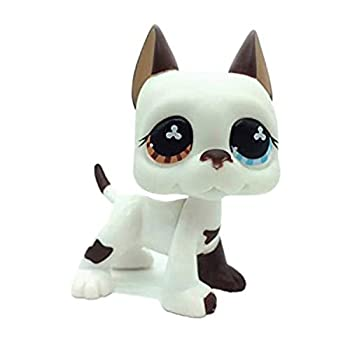 Action Figures Pet 577 White & Brown Great Dane Dog Puppy Blue Eye Toy