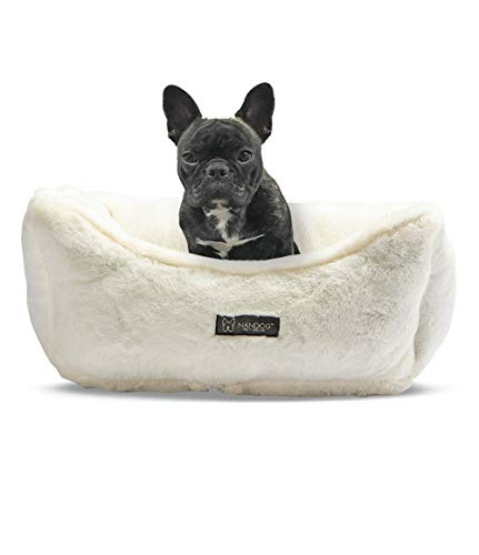 NANDOG Pet Gear Reversible Luxury Microplush Dog & Cat Bed (Ivory)