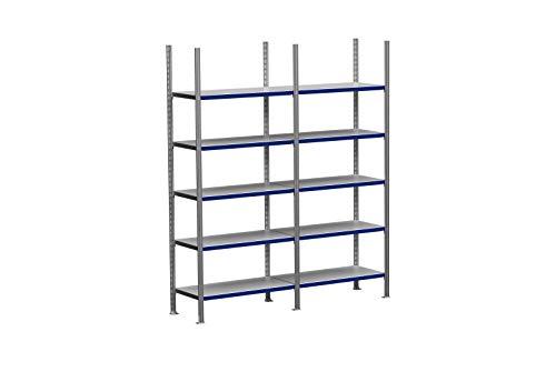 2m ordnerrek 200/250/300cm hoog, 30cm diep met 3-8 niveaus incl. stalen planken, belastbaarheid 200kg 2m × 200cm × 30cm (B×H×T), Ebenen: 5