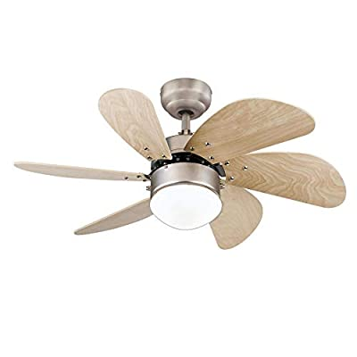 Westinghouse Lighting 7224000 Turbo Swirl Indoor Ceiling Fan with Light, 30 Inch, Brushed Aluminum by Westinghouse Lighting