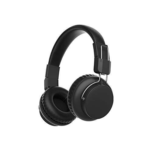 RJJX Home Best Wireless Headphones HiFi Casque Audio Bluetooth On Ear Headphones Stereo Bass Subwoofer Headset with Mic for iPhone Xiaomi (Color : Black)