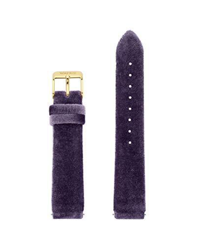 Correa de Terciopelo de la Marca Watx. Modelo Leather Velvet/Purple / 38mm. Referencia WXCO1030.