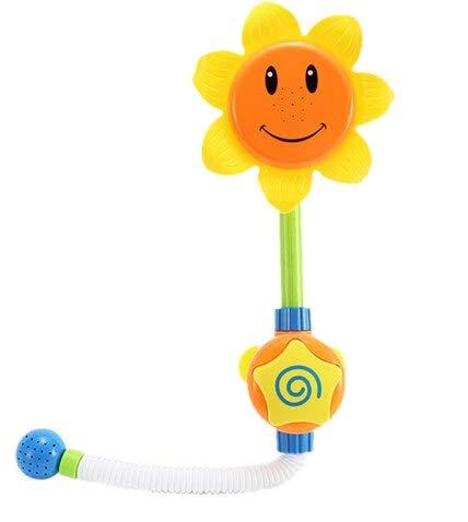 Juguete Bebé Divertido Juego Juego de Agua Baño Juguete Girasol Grifo Ducha Baño Bañera Sput Play Natación Toys Toys Summer Baño (Color : Amarillo)