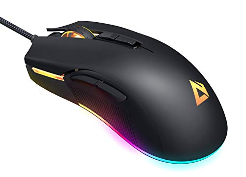 AUKEY RGB Gaming Mouse Wired with 6 Adjustable DPI Levels...