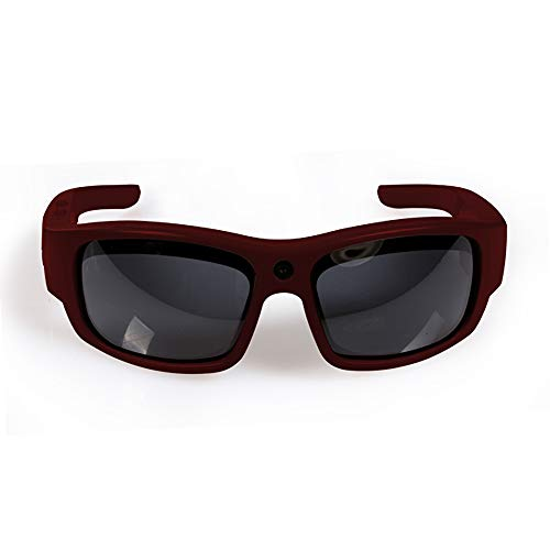 Govision Pro2 Video Camera Sunglasses | 15MP Camera Glasses | Wide Angle View, Unisex Design, Stylish, Water Resistant and Lightweight Frame - Maroon