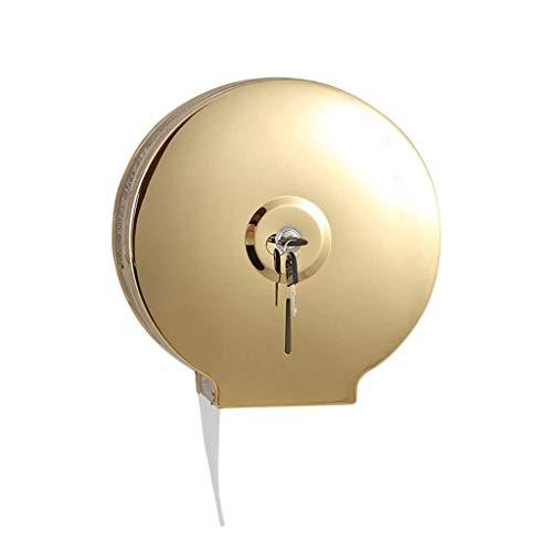 Toilettenpapierhalter- Einzelrollen Jumbo-Gewebe-Rollenspender mit Verschluss der Wand befestigter Badezimmer Papierrollenständer mit Kern Adapter, Gewerbe Toilettenpapierspender, for Haus und Hotel (
