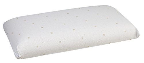 Pikolin Home - Almohada de látex natural, soporte ergonómico, 35x90cm, altura 13cm, color blanco (Todas las medidas)