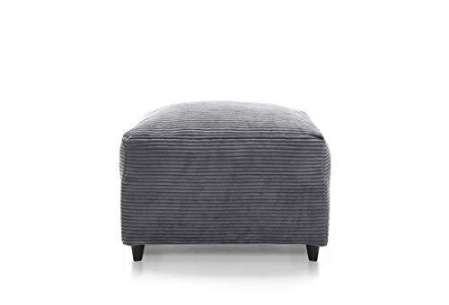 Abakus Direct Ferguson Corner Sofa in Grey Jumbo Cord Chenille Fabric (Footstool)