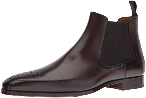 Magnanni Men's Bale Chelsea Boot, Maroon, 8 M US