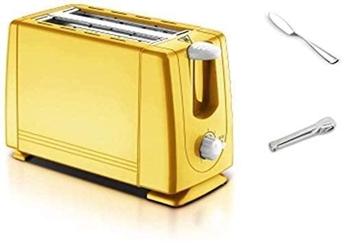 Bradoner Tostadora 2 Rebanada, descongelación de la descongelación 7 Ajuste de velocidad, fácil de limpiar para panes especiales Panes Otros productos horneados Portátil para cocina casera (Color: Roj