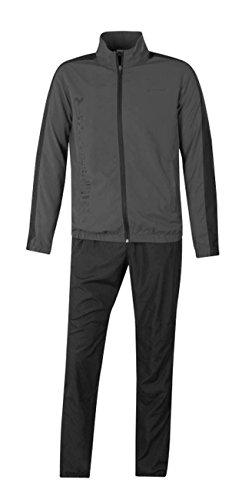 energetics Kinder Präsentationsanzug Trainingsanzug Divio + Dobrin grau / schwarz, Größe:164