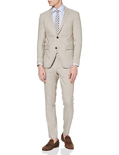 ESPRIT Collection Herren 030EO2M302 Anzug, Beige (Sand 5 289), (Herstellergröße: 46)