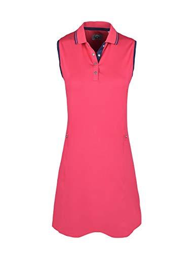 Callaway Damen Solides Golfkleid, Damen, Kleid, Solid Golf Dress, Virtual Pink, X-Large