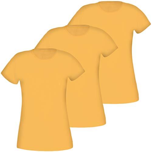 3 Pack dames T-Shirt ronde hals katoen M L XL XXL
