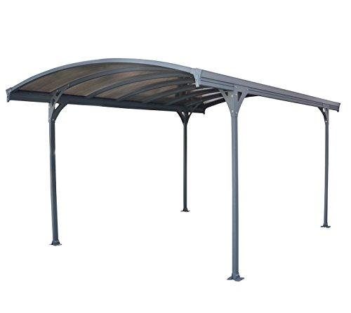 Tepro Carport Vitoria 5000 - Dachpaneele aus sehr hochwertigem Polycarbonat - B 285 x T 357 cm