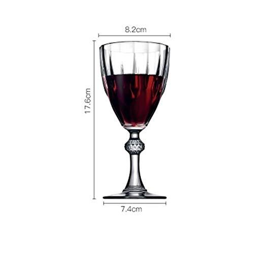 Loodvrij glas champagne kop diamant gegraveerd glas rode wijn thuis beker wijn glazen beker martini cafe bar thuis drinkware (Color : 245ml)