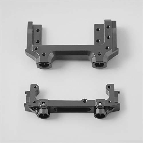 Sankuai 1 Set Metall vorderer hinterer Stoßfängerhalterung Chassis Schienenmontage mit Front-Servo-Base für 1/10 RC-Raupen Axial SCX10 II 90046 90047