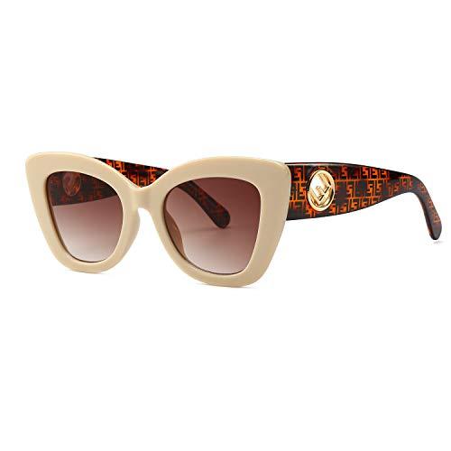 DUSHINE Retro Vintage Cateye Sunglasses For Women 100% UV Protection