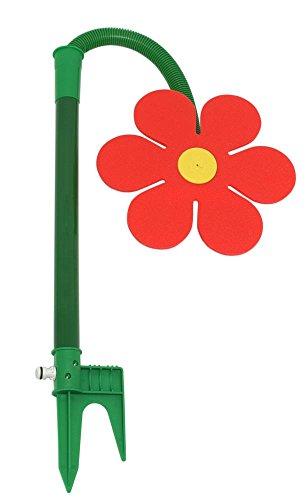 FloraSun Funflower - die lustige Gartendusche, Wasserspiele zur Gartenbewässerung, rot