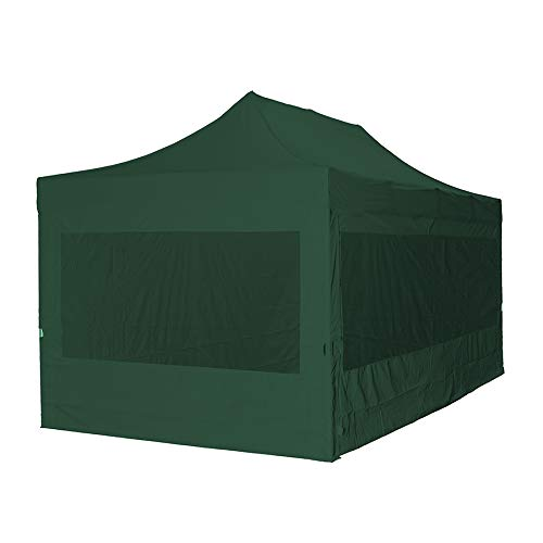 3305C - Tienda de campaña plegable (3 x 4,5 m, incluye 4 paredes laterales), color verde