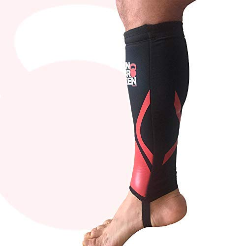 Cross Fitness Shin Guard and Calf Compression 7mm RED SHELL...