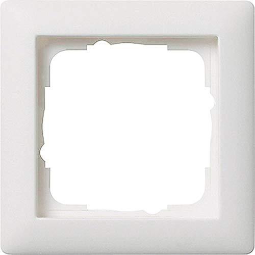 Gira 0211 04 Rahmen 021104 1fach Standard 55 reinweiss matt, Weiß
