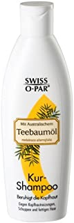 Swiss-o-Par - Champú de árbol de té 750 ml (3 x 250 ml) contra la irritación del cuero cabelludo la caspa y el cabello ...