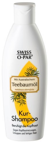 Swiss-o-Par Teebaum Shampoo 750ml (3 x 250ml),gegen Kopfhautreizungen, Schuppen und fettiges Haar