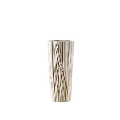 Pure.Lifestyle Jarrón de Cerámica Moderno Florero de Textura de Arbol de Porcelana Decoración del Hogar Decoración...