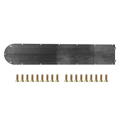 Couvercle inférieur de la batterie - Couvercle inférieur du compartiment de la batterie en acier inoxydable noir pour scooter électrique Mijia M365