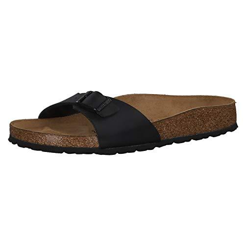 Birkenstock Schuhe Madrid Birko-Flor Schmal Black (040793) 37 Schwarz