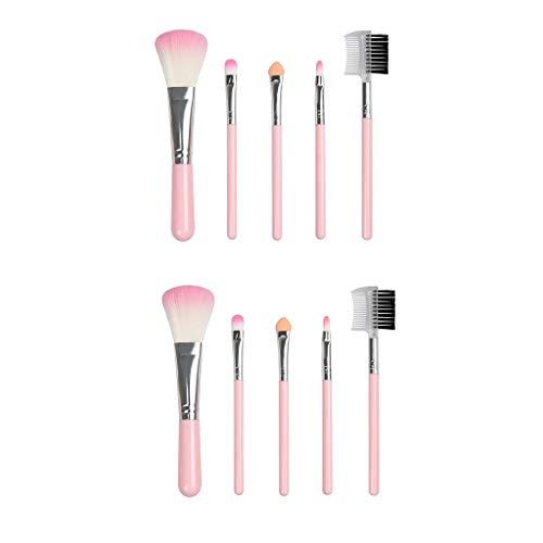 Bonarty 10pcs Pinceaux De Maquillage Professionnel Mis Kit De