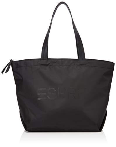 Esprit Accessoires Damen Noos Cleo Shopp Schultertasche, Schwarz (Black), 18x28x32 cm