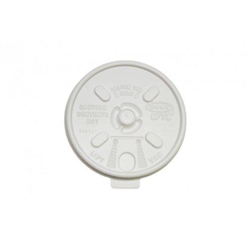 essstaebchen Couvercle Stülp – Systeme avec Languette – en Plastique – pour gobelets ISO KP 04142 – Lot de 25