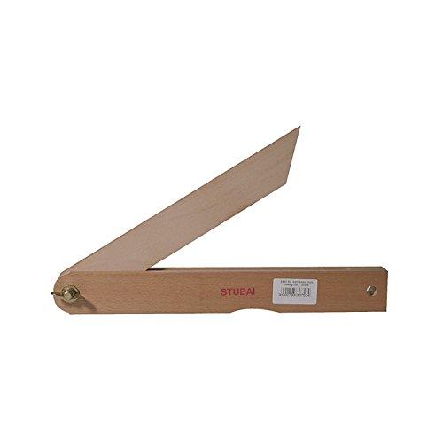 Stubai 344050 Gehrmaß Holz beweglich 300 mm, rot, Medium