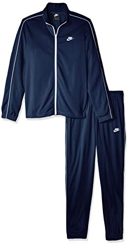 Nike Herren M NSW CE TRK Suit PK Basic Tracksuit, Midnight Navy/White/(White), M